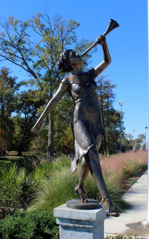 Euterpe, Greek Muses, bronze,  6' H