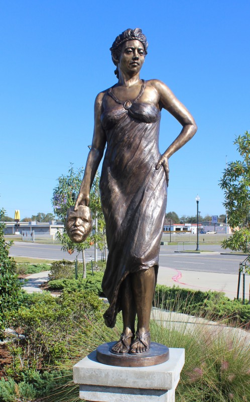 Melpomene, Greek Muses, bronze, 6' H