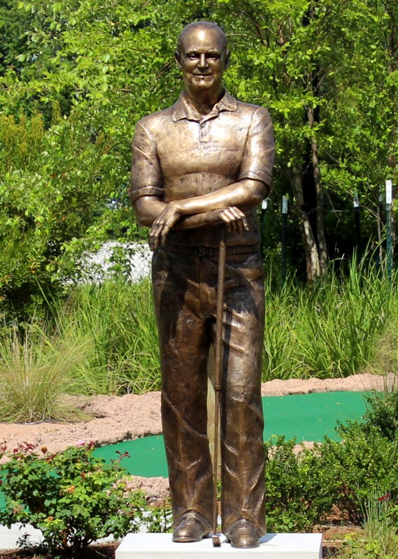 Stanley Ray, bronze, life size