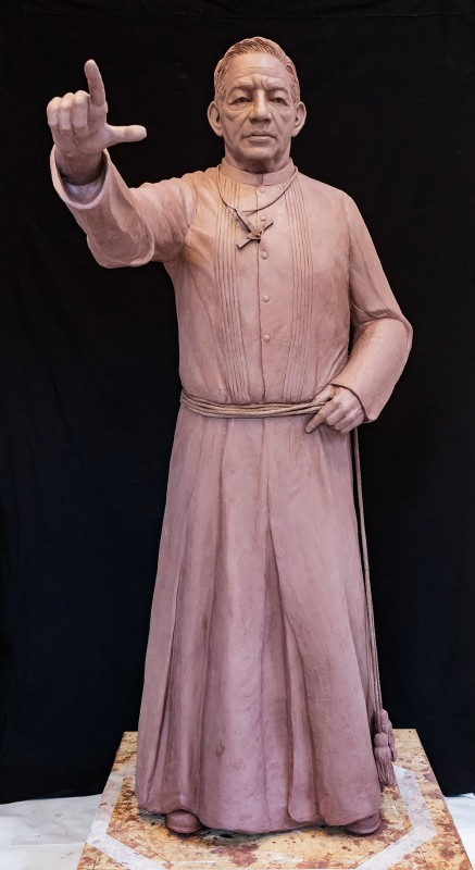 Brother Martin, clay for bronze, lifesize