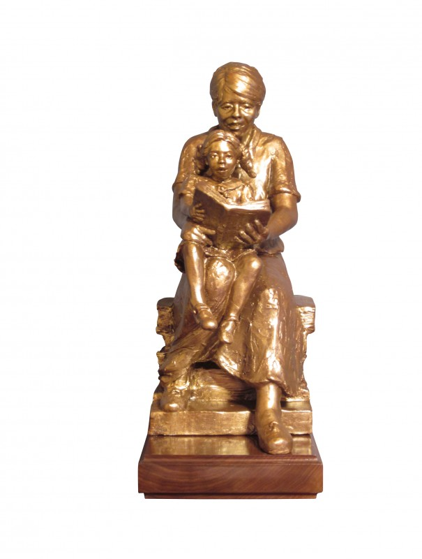"""Walsh Dedication for East Baton Rouge Library, bronze, 20"""" H"""
