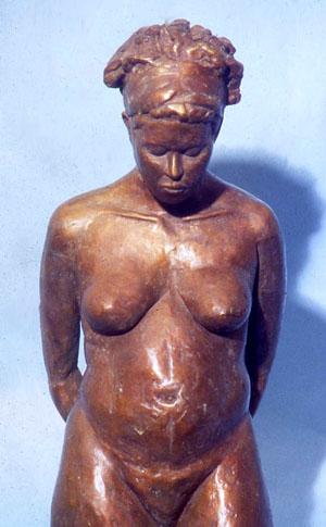 """Creole Girl, bronze, 32"""" H"""