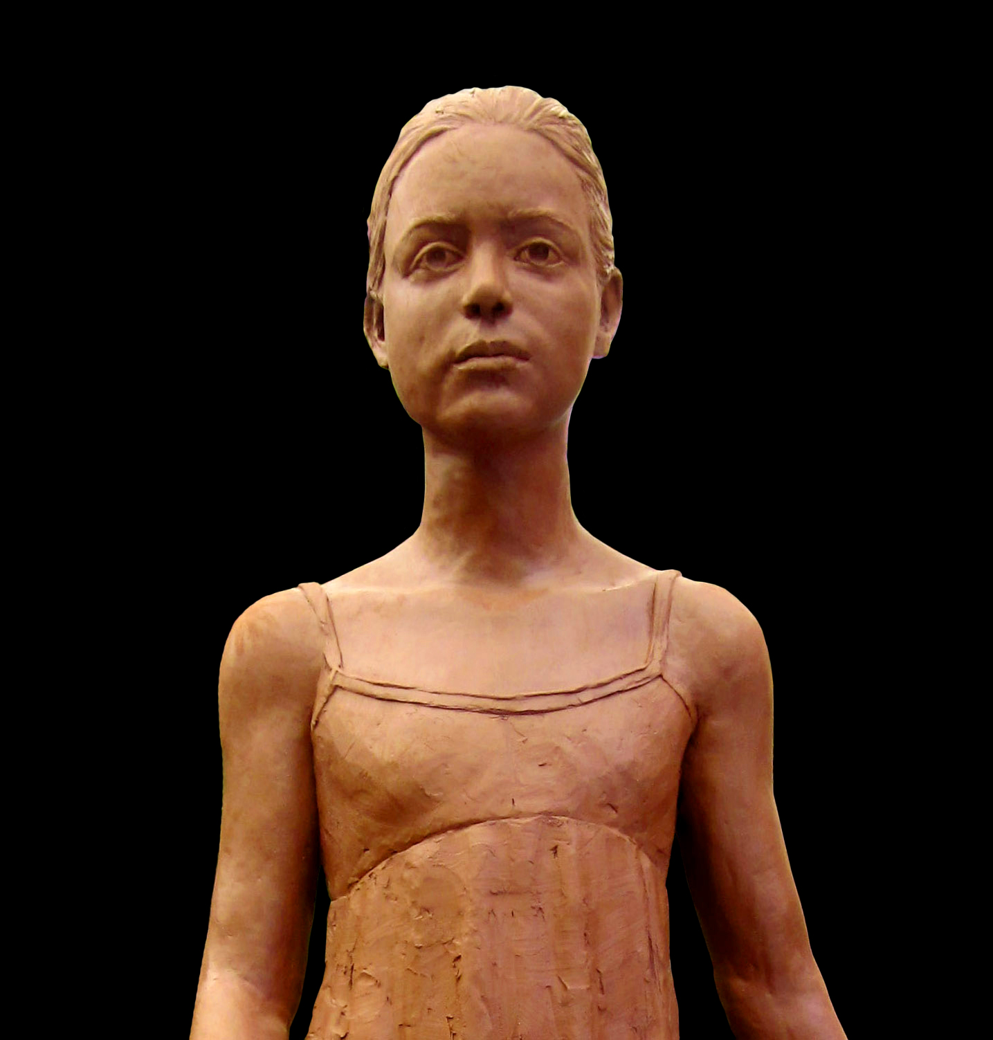 Ballerina, clay for bronze, life-size