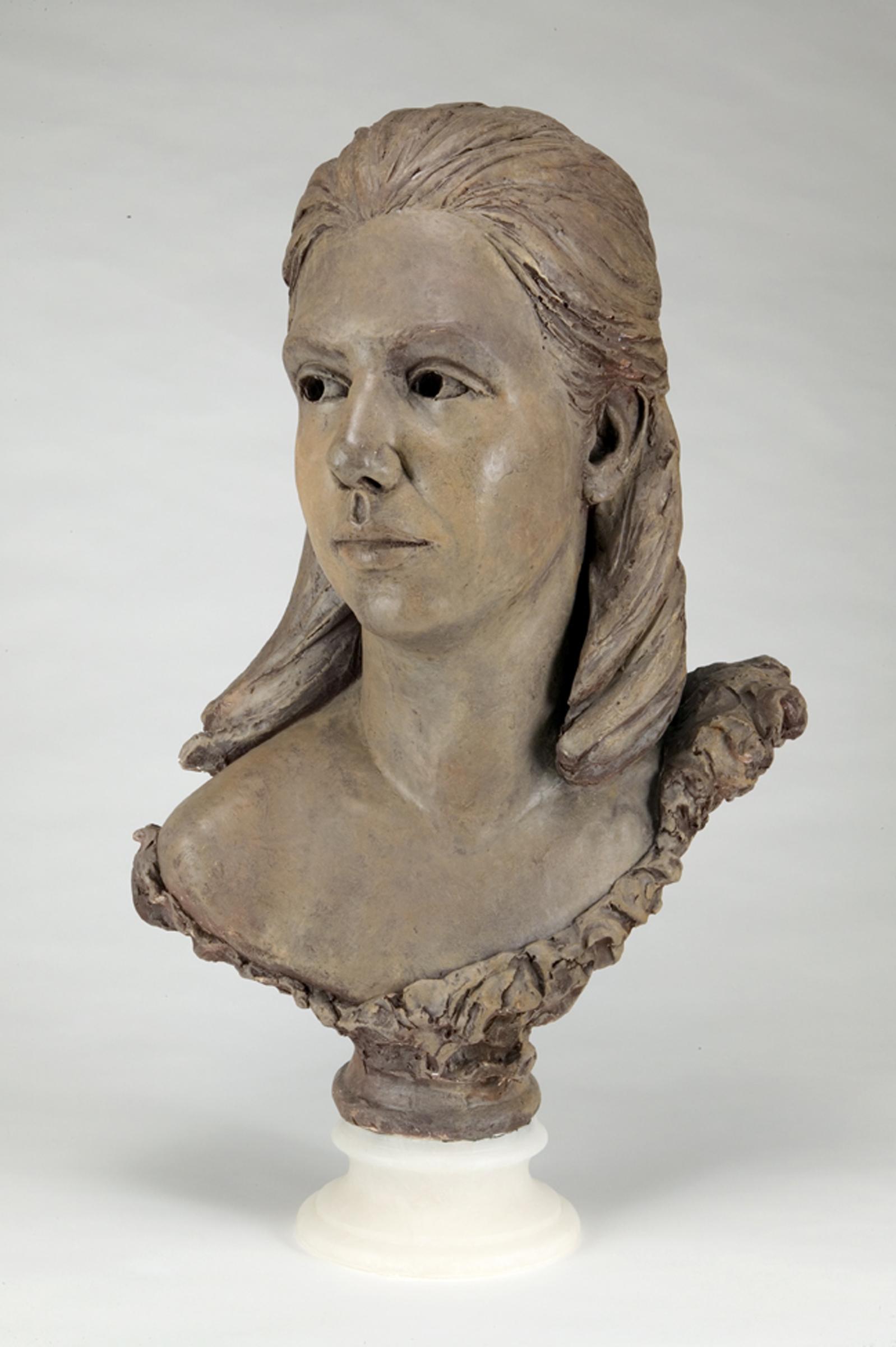 Carol, bronze, life-size