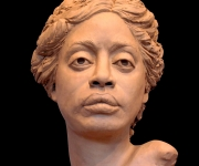 "Tasha, lifesize clay for bronze, 12"" H"