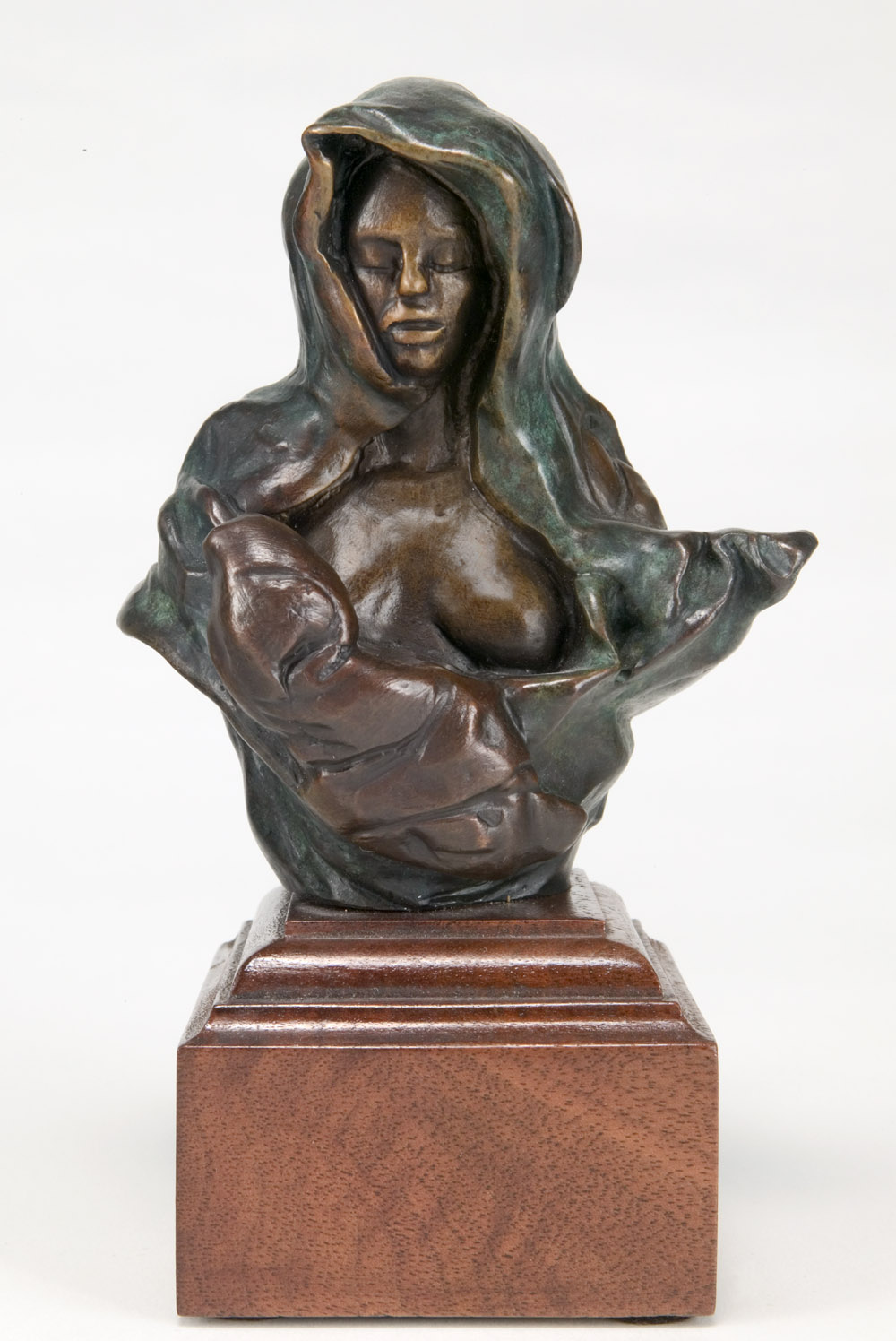 "Colleen and Sweet Pea, bronze, 4.5"" H"