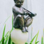 baby pan sculpture by artist kim bernadas