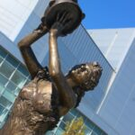 Greek muses sculpture by artist Kim bernadas